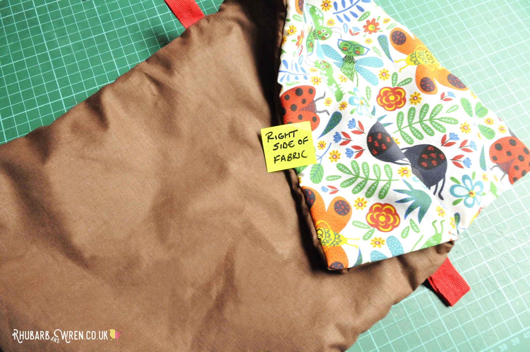 A homemade diy nature explorer bag.