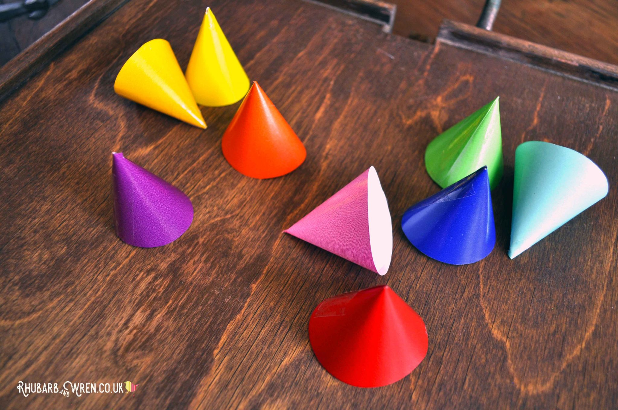 Colourful caps for kids paper fireworks craft