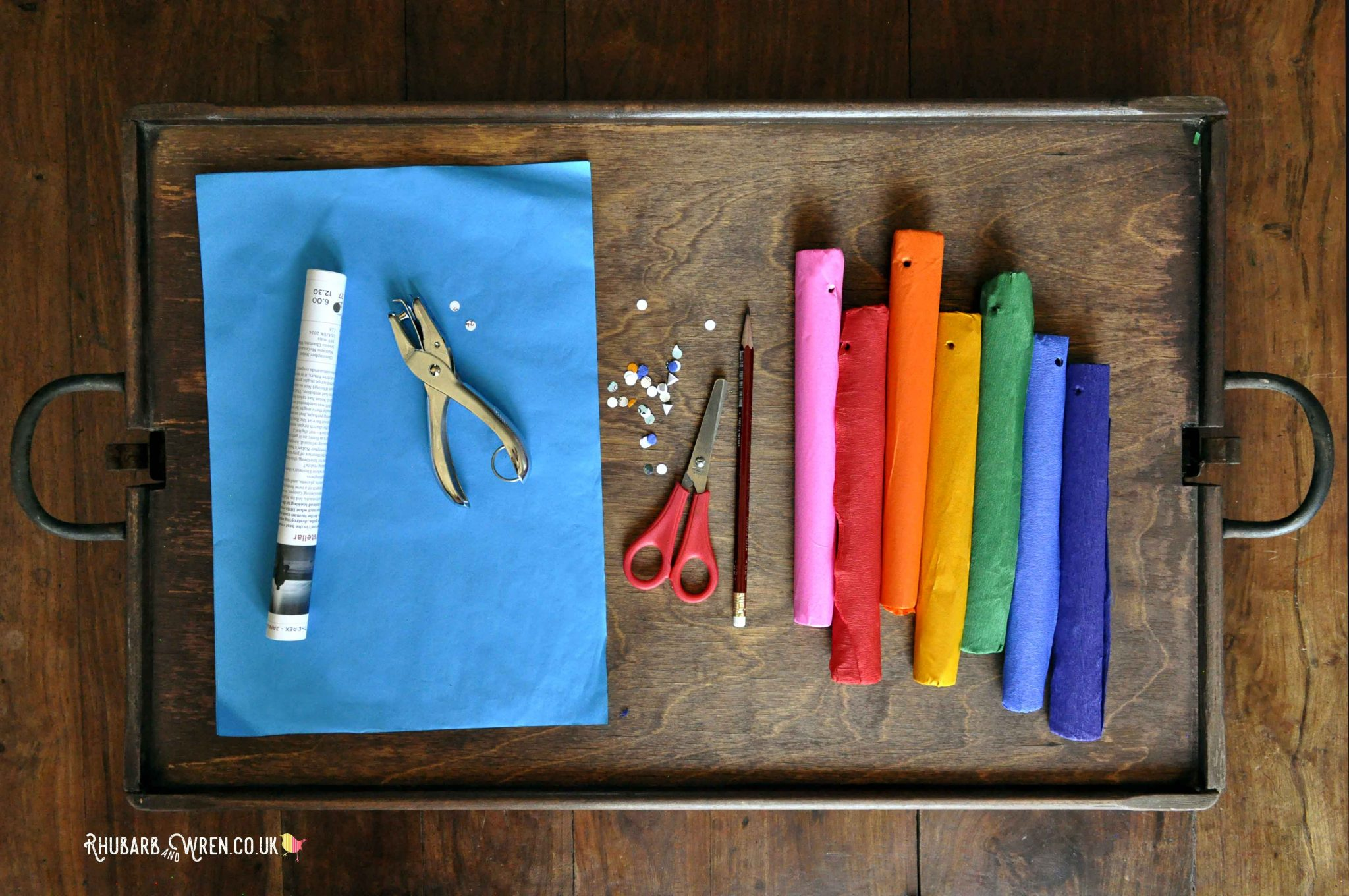 A paper fireworks craft for kids