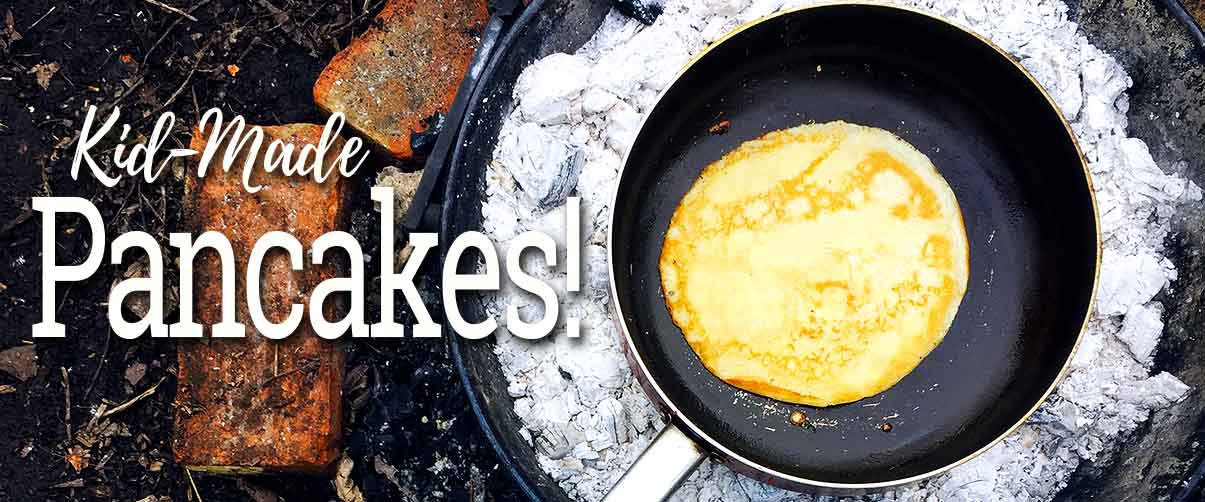 kid-made pancake day recipe