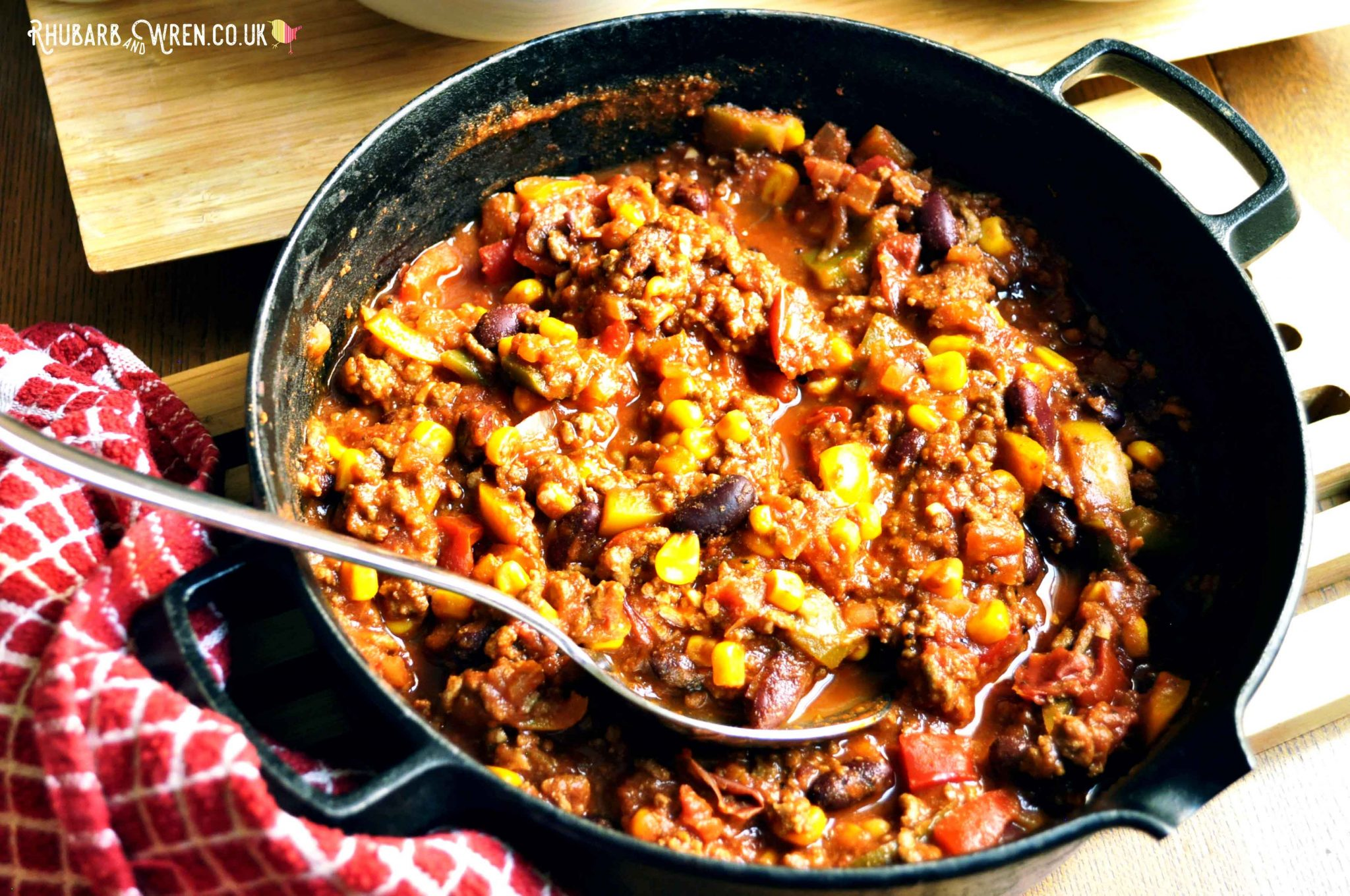 family friendly beef or vegan chilli recipe
