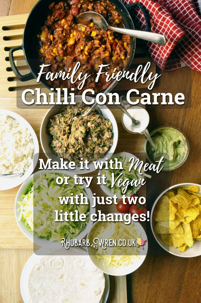 Family friendly vegan chilli recipe that kids love.