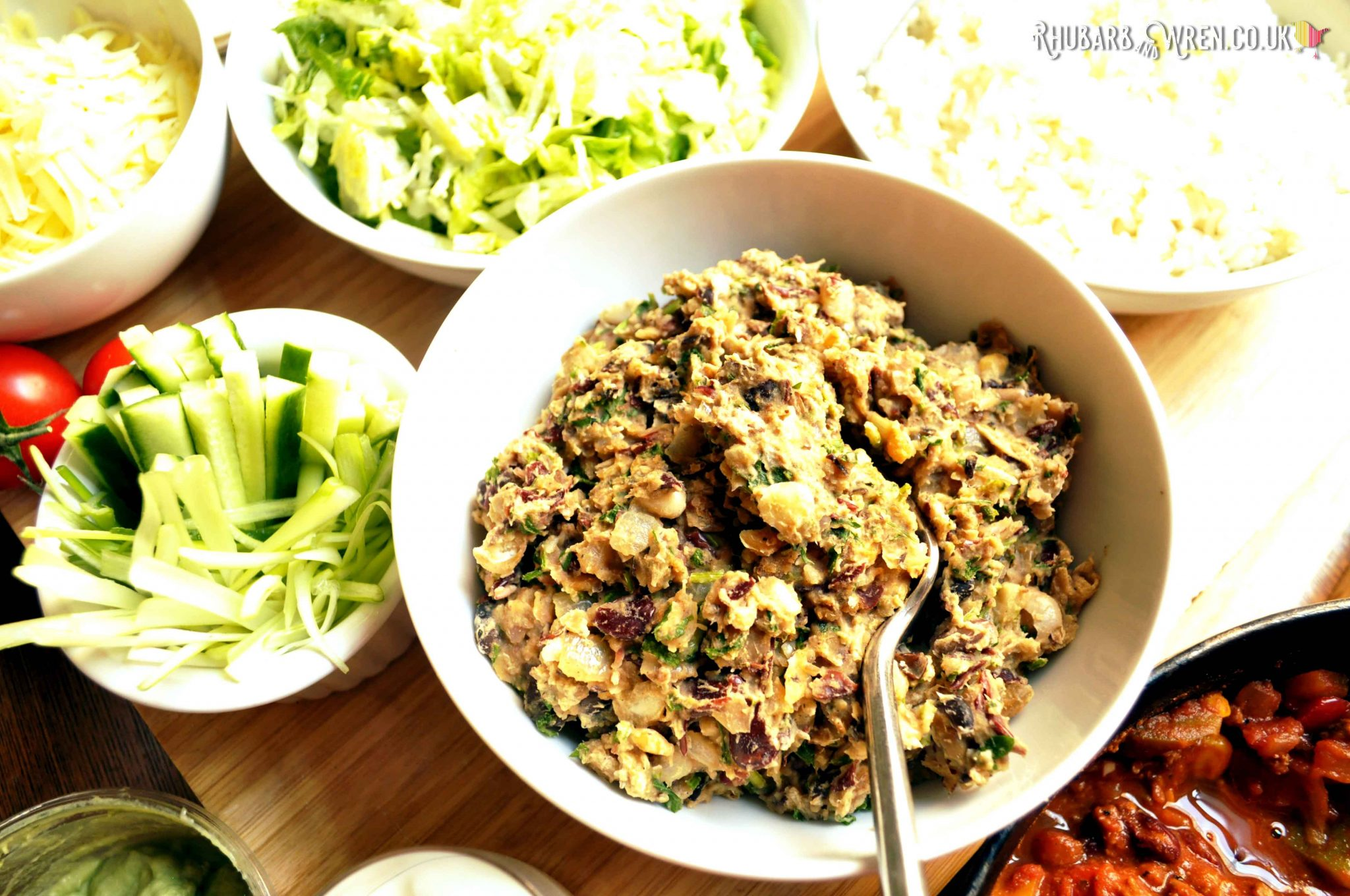 homemade refried beans as a sidedish or topping for a chilli recipe