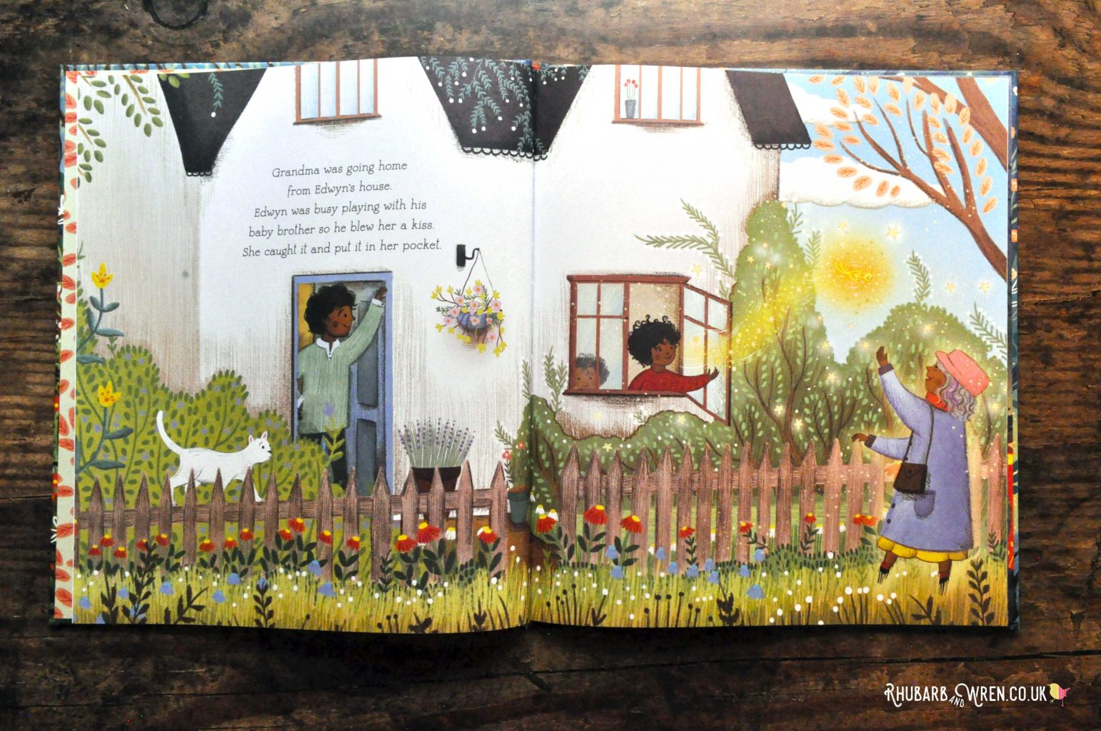 Page from 'The Kiss' by Linda Sunderland and Jessica Courtney-Tickle