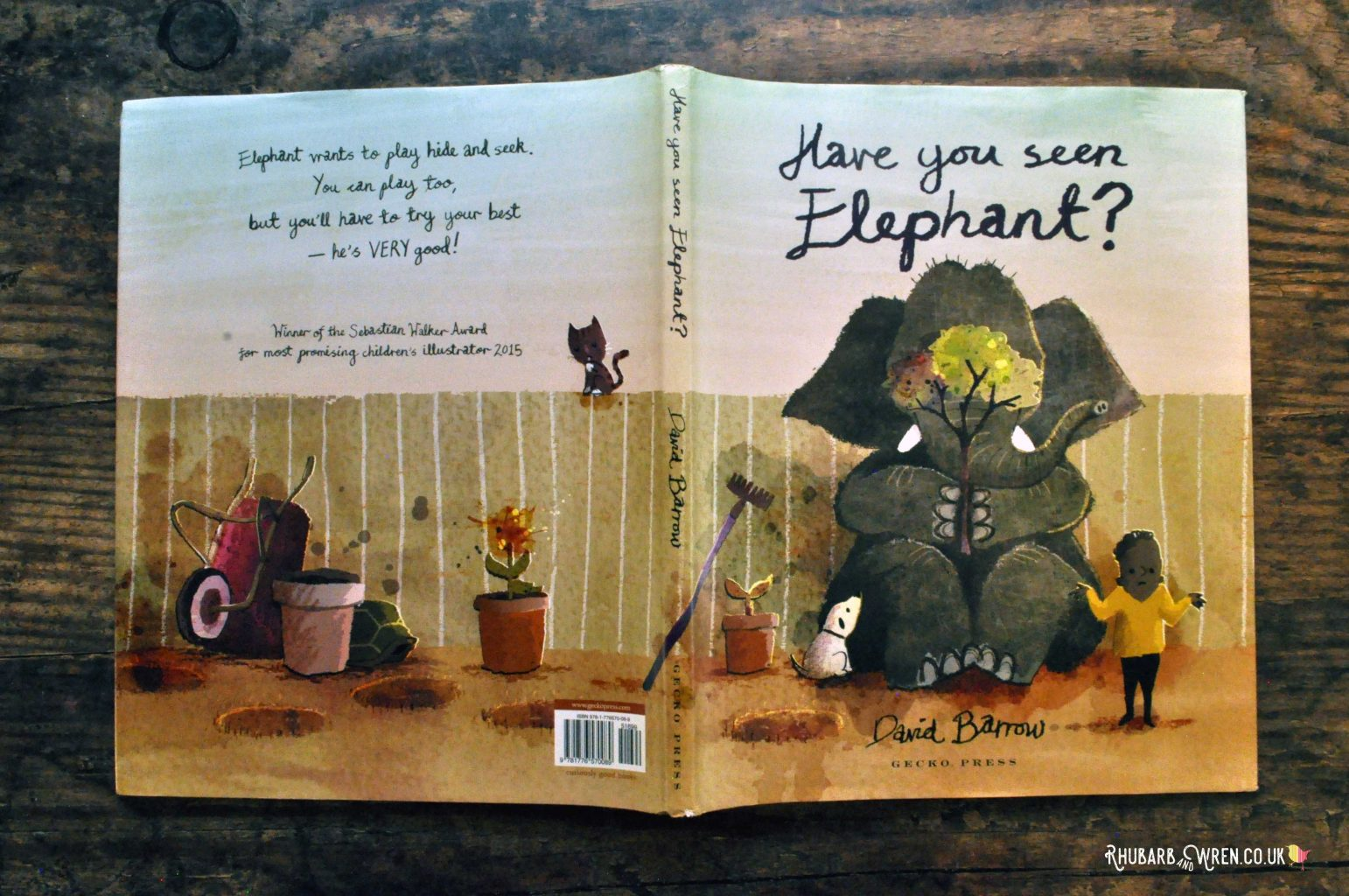 The front and back cover of Have You Seen Elephant? by David Barrow.