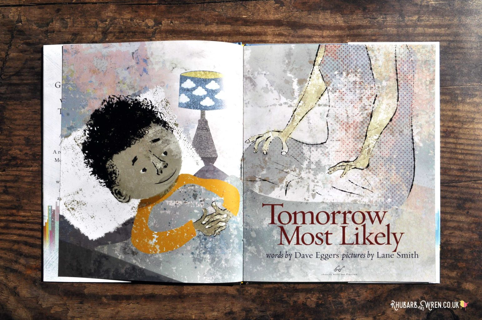 A page from the children's picture book 'Tomorrow Most Likely' by Dave Eggers and Lane Smith.