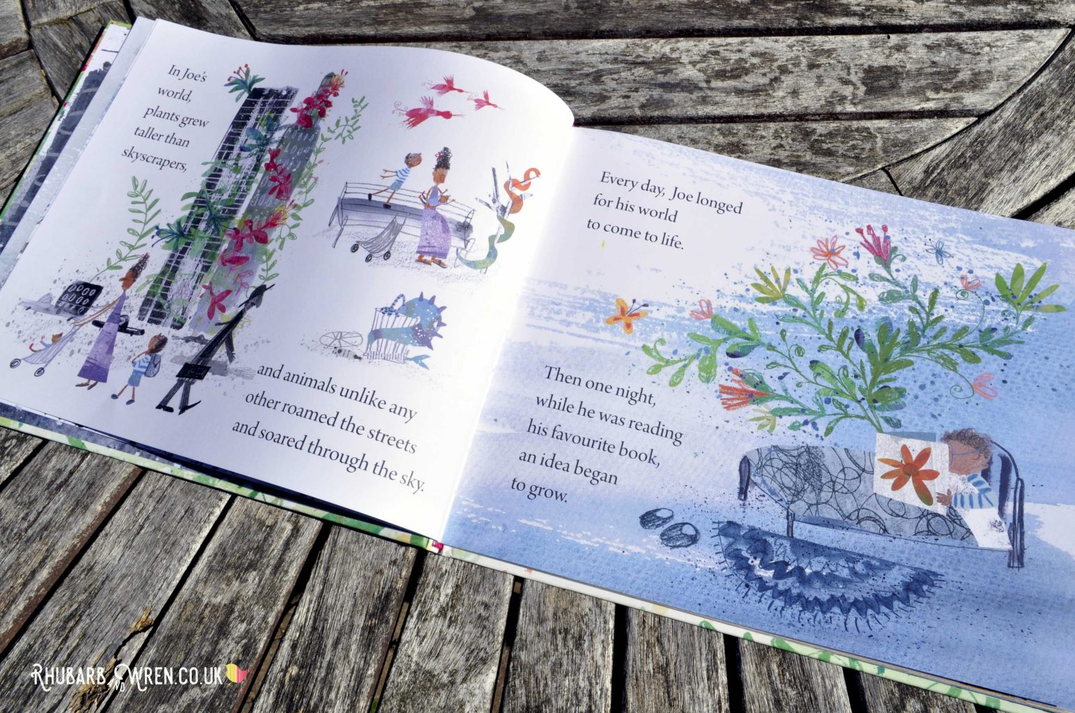 Pages from The Extraordinary Gardener by Sam Boughton