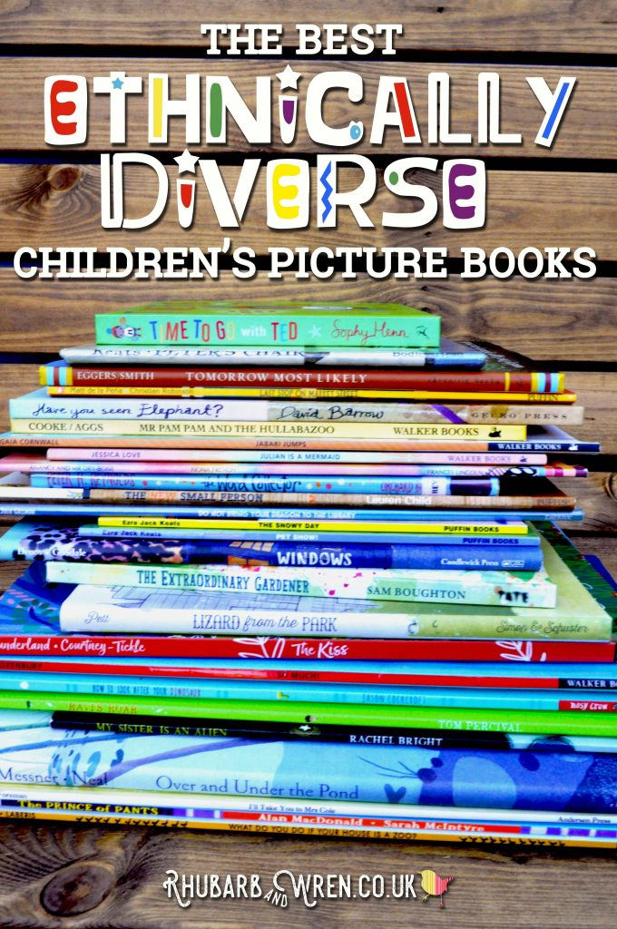 A pile of children's picture books featuring ethnically diverse boy main characters.