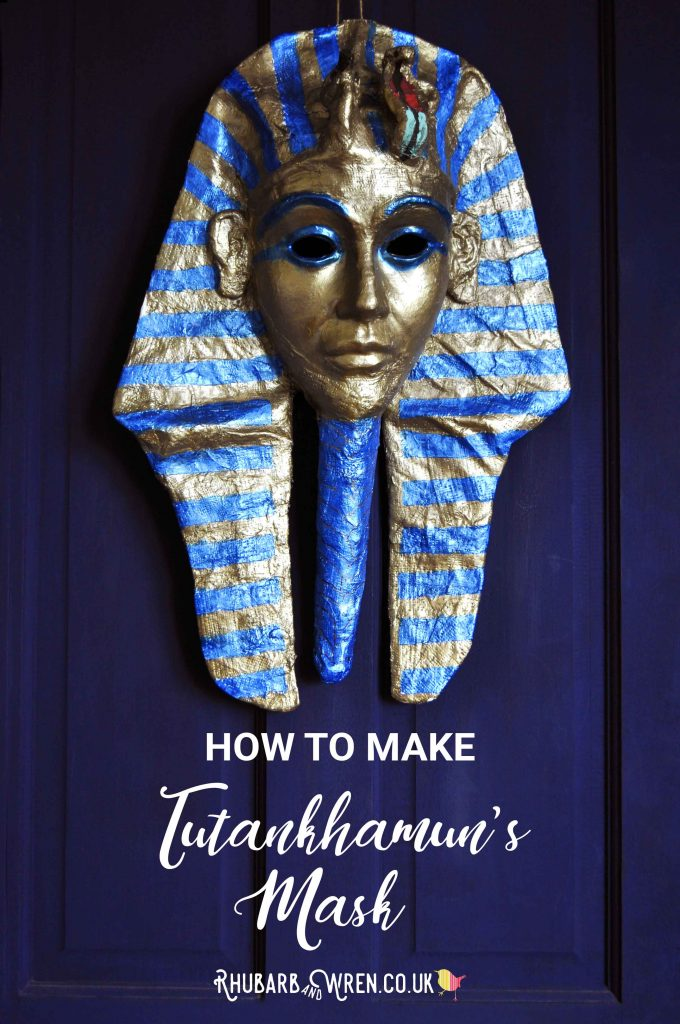 how to make Tutankhamun's mask