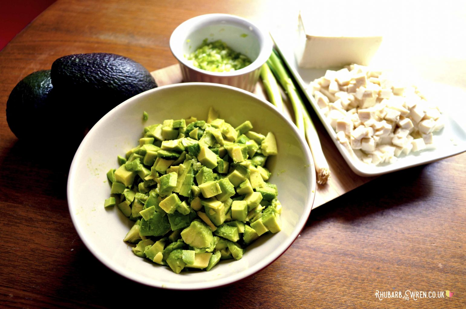 ripe avocado chopped into small cubes