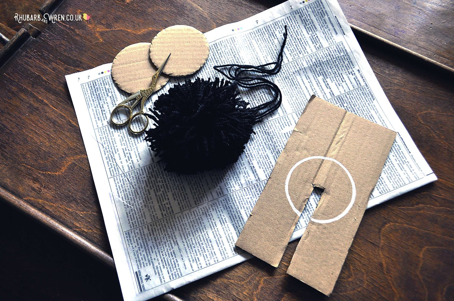 DIY pompom making kit.