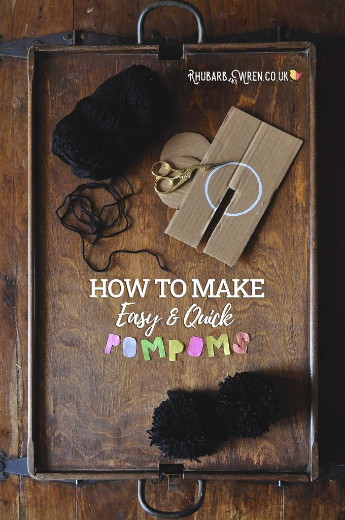 DIY pompom maker and wool