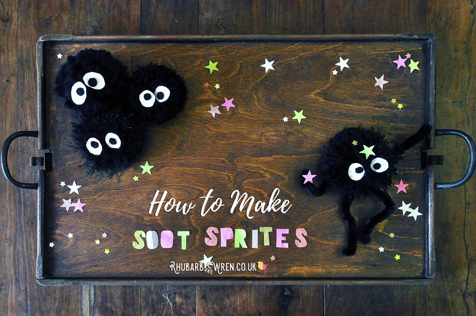 home-made pompom soot sprites