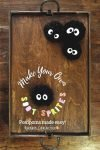 DIY soot sprite pompoms inspired by Studio Ghibli