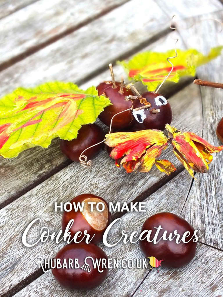 A conker dragon made by kids