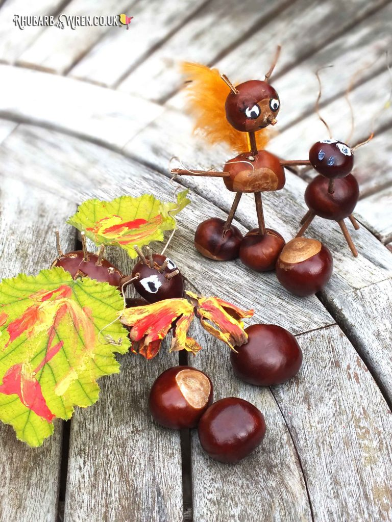 creatures made with conkers, twigs and other natural bits.