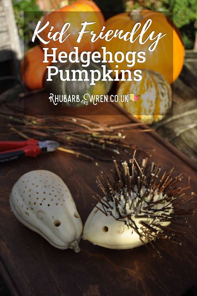 Halloween hedgehogs made from butternut squash