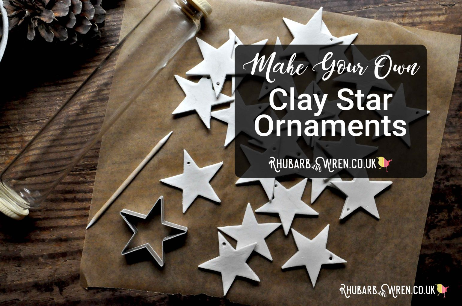 Make your own clay star ornaments for Christmas decorations