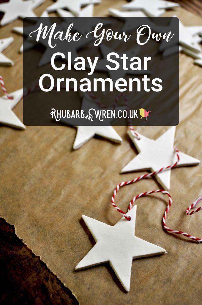 home-made Christmas star decorations