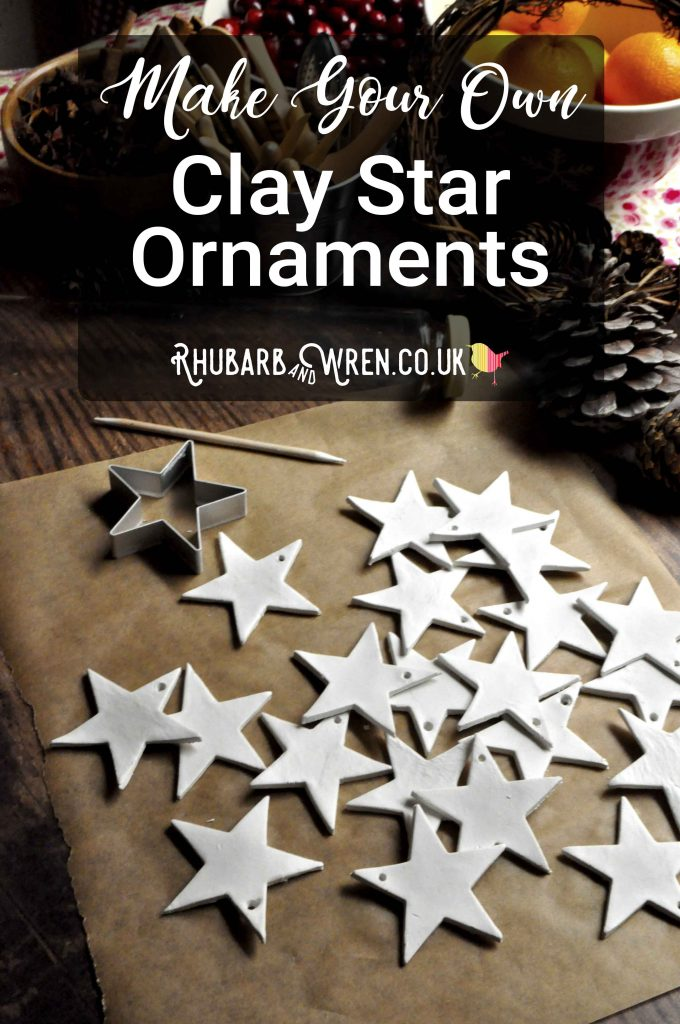 DIY clay star ornaments