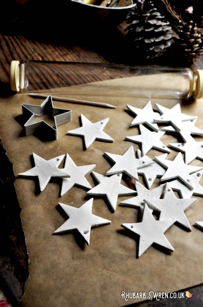 make your own clay star ornaments